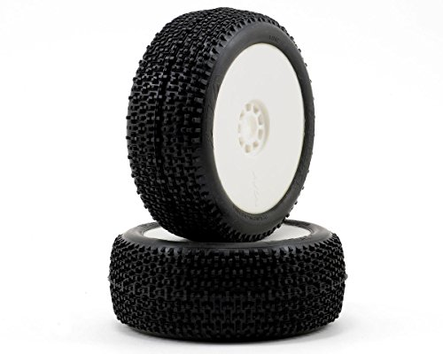 AKA Products 14002VRW Racing Buggy City Block Super Soft Evo Wheel Pre-Mounted White Tire, Scale 1:8 ()