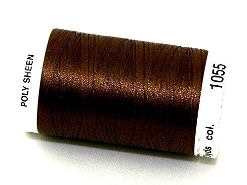 Mettler Polysheen Polyester Machine Embroidery Thread 800m 800m 1055 Bark - each