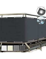Sol Royal SolVision Balkonscherm 90x500ccm - Ondoorzichtige Balkondoek Antraciet - Windscherm met Ogen en Snoer - Balkonafdekking PB2 PES