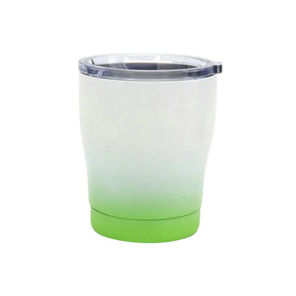 multifunktionaler Getr/änkebecher. getherad / Milch Cup Robustes haltbares Weinglas New Gradient Style 10 Unzen Vakuum 304 Edelstahl K/älteschutzglas Bierglasbecher