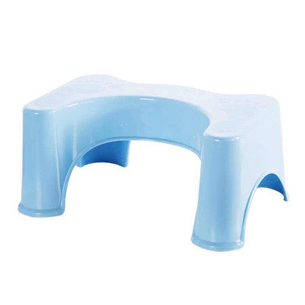 Squatty Potty Ergonomic Design Toilet Stool Plastic Non-slip Bathroom Toilet Aid Stool,Blue by HB Toilet Stool