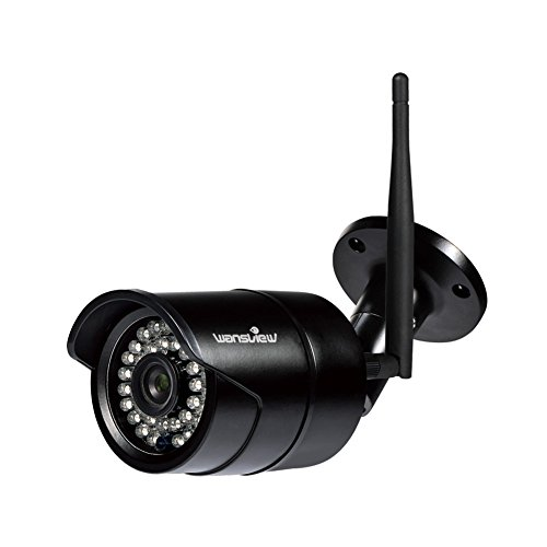 Wansview Outdoor 720P WiFi Wireless IP Security Bullet Camera,IP66 Weatherproof, 720P W3-Black