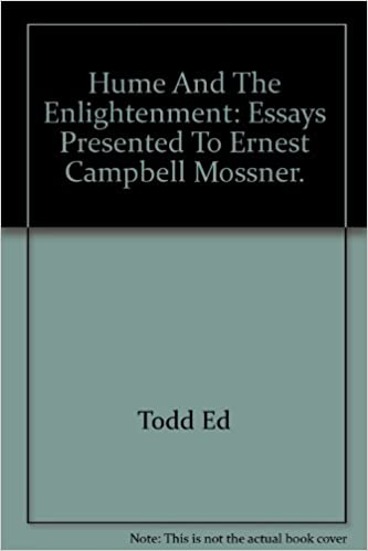 Thesis Of A Compare And Contrast Essay Hume And The Enlightenment Essays Presented To Ernest Campbell Mossner  William B Ed Hume Todd Amazoncom Books Essay Of Health also How To Write Proposal Essay Hume And The Enlightenment Essays Presented To Ernest Campbell  Essay About Science