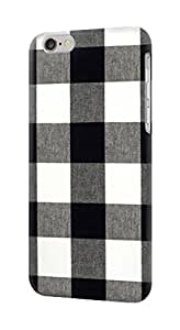 E2842 Black and White Buffalo Check Pattern Funda Carcasa Case para IPHONE 6 6S