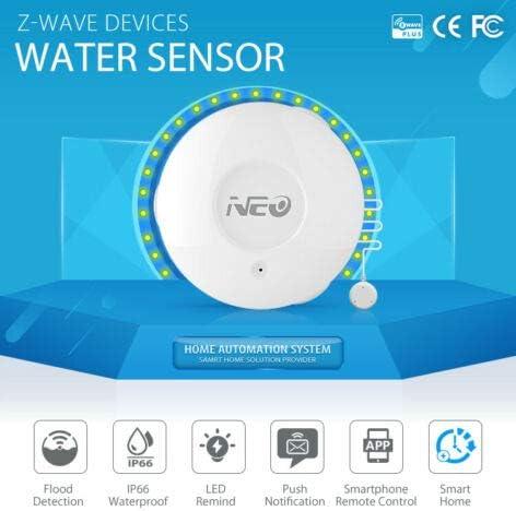 Flood and Leak Detector Alarm and App Notification Alerts Colcam ZWave Smart Water Sensor ZWave Hub Required Simple Plug /& Play Set Up