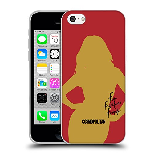 Official Cosmopolitan Cover Girl 3 Fun Fearless Female Soft Gel Case for Apple iPhone 5c