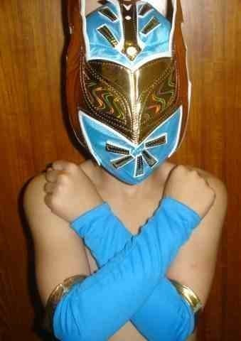 Sophzzzz Toy Shop Sin Cara Blue Fancy Dress Up Costume Outfit Suit Gear]()