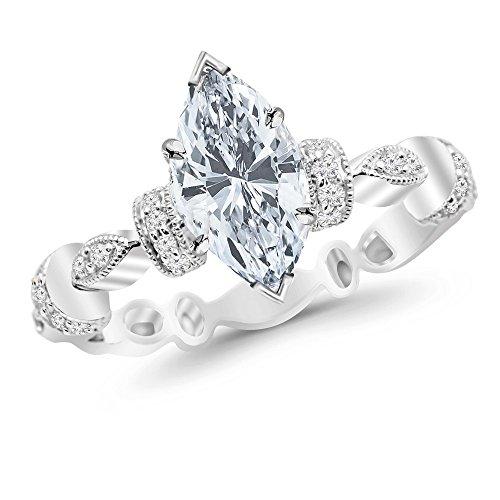 0.45 Ct Marquise Diamond - 9