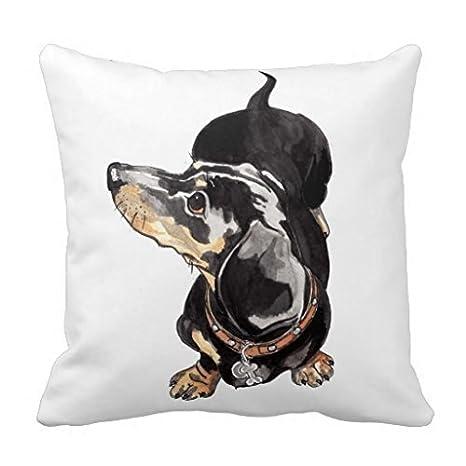 Cojín de perro salchicha por Annabel Tarrant manta almohada ...