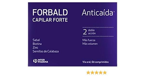 FORBALD - Capilar Forte Complemento alimenticio evita la caída del cabello y favorece su crecimiento - 60 cápsulas