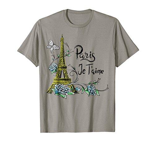 Vintage Paris shirt Eiffel Tower Paris Je taime France gift