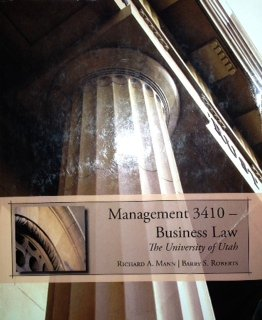 Management 3410 (Management 3410: Business Law, University of Utah)