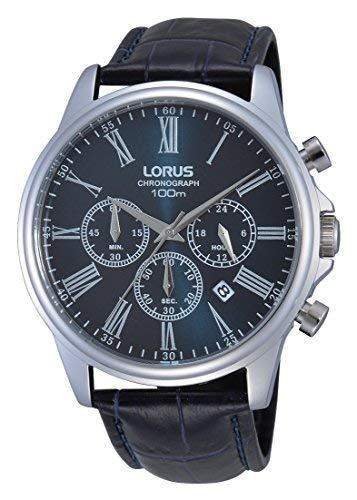 Lorus herr kronograf kvartsur med läderrem RT389DX9