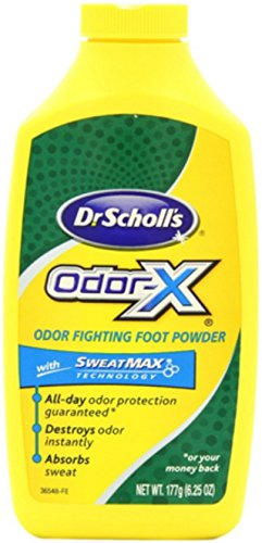 Dr. Scholl's Odor-X Odor Fighting Foot Powder 6.25 oz (Pack of 4)