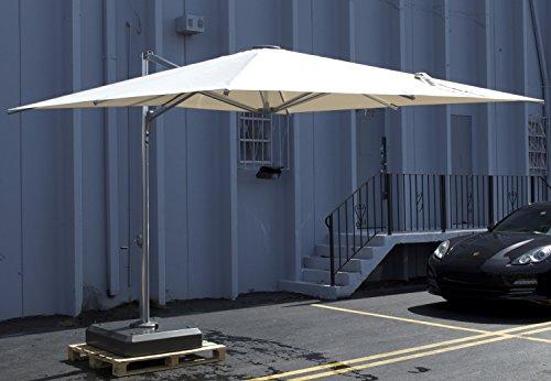 Jaavan Nassau Cantilever 12x10 Umbrella - Base Included! Free Shipping! (NATURAL (Nassau Natural)