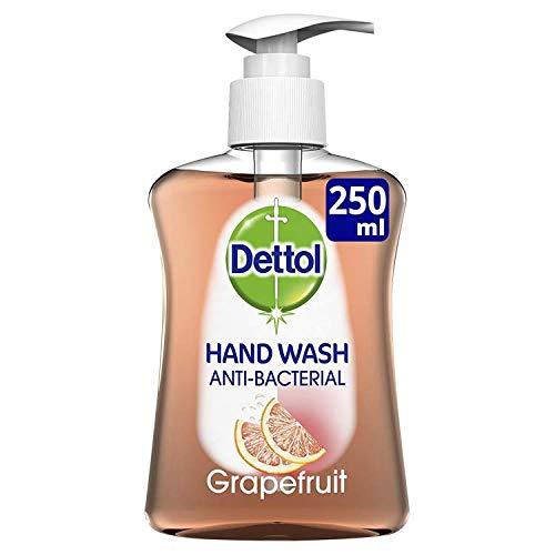 Dettol Moisture Antibacterial Hand Wash Soap, Grapefruit, Dispensing Pump, 250 ml