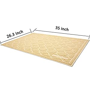 Cat Litter Mat, Cat Box Mat - Extra Large Cat Track Mat Best Litter Mats for Cats Kitty Litter Boxes, No BPA