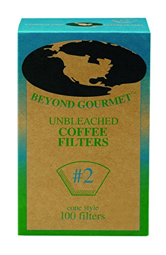 Beyond Gourmet Paper Coffee Filter Cone, Number 2-Size Filter, Brews 2 to 6-Cups, Box of 100