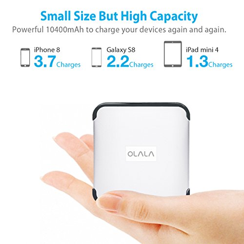 Palm-sized OLALA G3 10400mAh Portable Charger w...