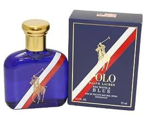 Ralph Lauren Polo Red White and Blue Cologne Eau de Toilette Spray for Men, 2.5 Ounce