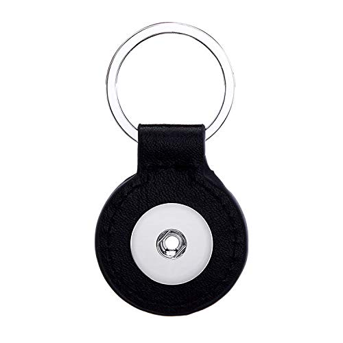- 2017 1pcs Key Chain for 18mm noosa button snap charm Round Black