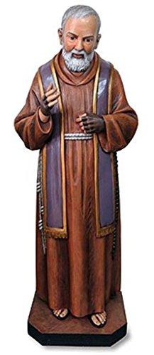 Patron Saint Padre Pio of Pietrelcina Church Size Resin Statue, 49 Inch