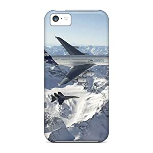 Premium Durable Airbus A380 And Fighter Fashion Tpu Iphone 5c Protective Case Cover
