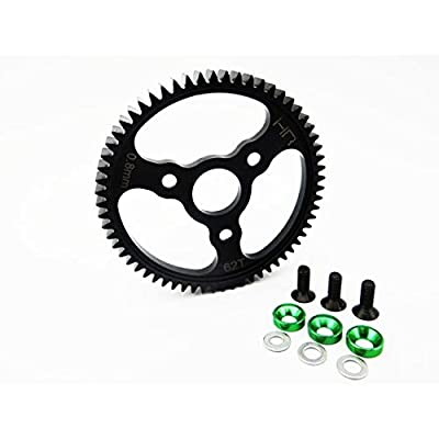 Hot Racing SERVO262 Steel Spur Gear (62T 0.8 Mod)(Green) - Traxxas: Toys & Games