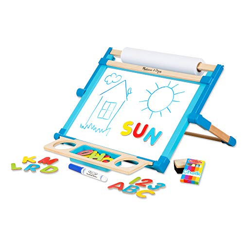 "Melissa & Doug Deluxe Double-Sided Tabletop Easel (Arts & Crafts, 42 Pieces, 17.5"" H x 20.75"" W x 2.75"" L, Great Gift for Girls and Boys - Best for 3, 4, 5 Year Olds and Up)"