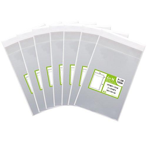【 국산 】 테이프 첨부 【 딱 사이즈 】 엽서 (원시 사진, 인기) 투명 OPP 가방 【 700 장 】 30 미크론 두께 (표준) 105x155 + 40mm / 【Domestic】 With tape [perfect siz