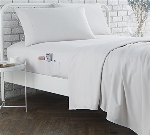 White Twin Jet - Byourbed BYB Bedside Pocket Twin XL Sheet Set - Supersoft Jet Stream