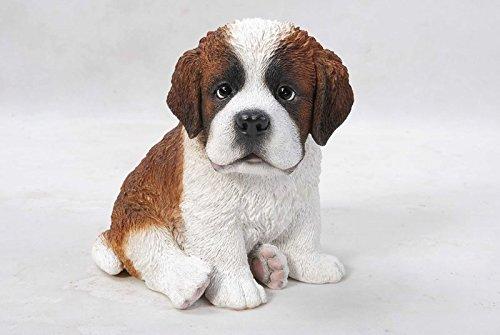 Hi-Line Gift Ltd. Pet Pals - Sitting Saint Bernard Puppy Statue