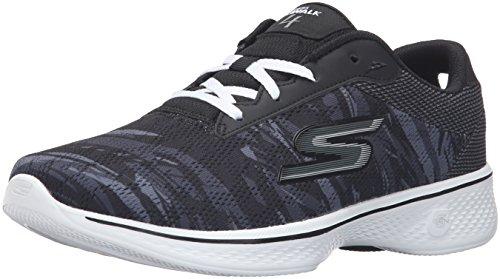 camina que zapato Negro Excite Go Rendimiento Walk Skechers 4 Blanco xapnq0w6XY