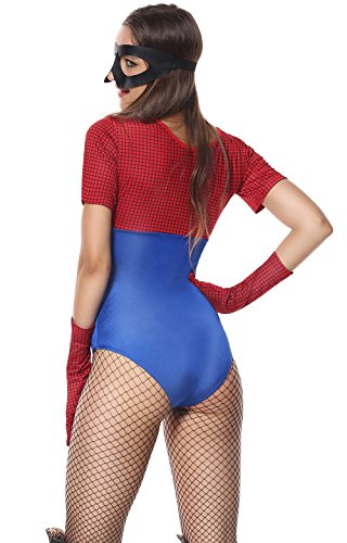 Super Mario Couples Costumes (Devon Q Red Cute Sweet Cool Girl Women Miss Super Mario Halloween Cosplay Costume Accessorry (Medium))