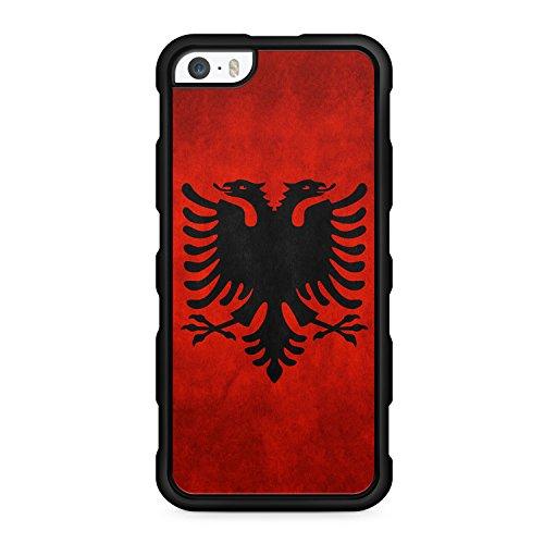 Albanien Albania - für iPhone SE / iPhone 5 / iPhone 5S - SILIKON TPU Hülle - SCHWARZ - Cover Case Schutz Schale Shqiperia Flagge Flag