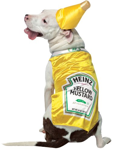 Heinz Mustard Pet Costume Size X-Large - Heinz Dog Costume