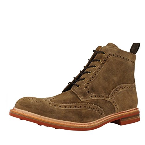 mens-loake-brogue-style-lace-up-boots-wharfdale-tan-size-10g