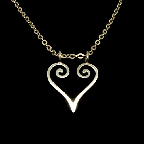 "20"" Handmade Silver Love Ring Holder Necklace Pendant"