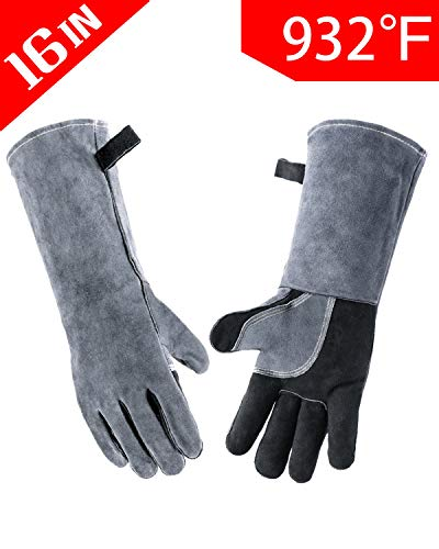 Wanyi Leather Welding Gloves for Extreme Heat Resistance ()
