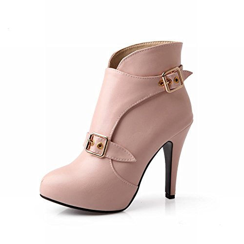 Fashion Women's Hot Sale Western Buckle New Arrival Party Stiletto High Heels Ankle Boots