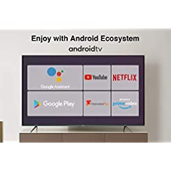 TCL 43EP658 43-Inch 4K UHD Smart Android TV with Freeview Play, Prime Video, Netflix, YouTube, HDR10, Micro Dimming, Dolby Audio, Bluetooth, WiFi, 2*HDMI, 1*USB, Slim Bezel – Black