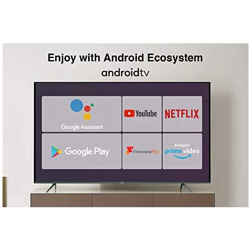 TCL EP658 55-Inch 4K Ultra HD Smart Android TV with Freeview Play, Prime Video, Netflix, YouTube, HDR10, Micro Dimming…
