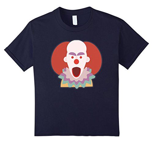 [Kids Creepy clown Halloween Horror T-Shirt 12 Navy] (Carnie Costume Ideas)