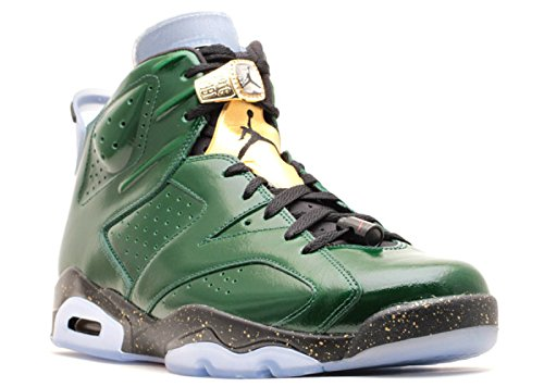 Jordan Air 6 Retro Championship Champagne Men's Shoes Pure Green/Metallic Gold-Red-Black 384664-350 (9.5 D(M) US)
