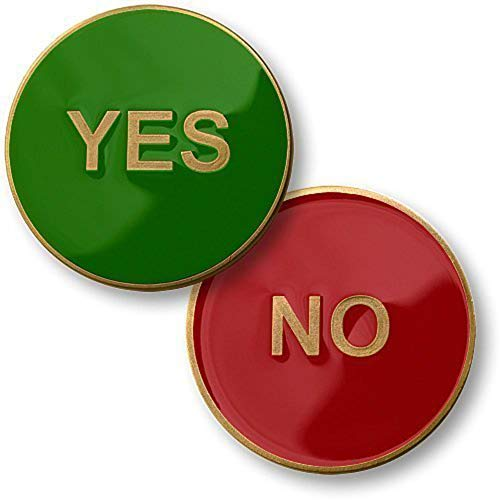 Yes No Flipper Challenge Coin