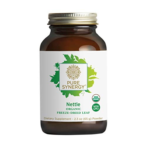 Pure Synergy USDA Organic Freeze-Dried Nettle Leaf Powder (2.3 oz) Supports Healthy Histamine Levels During Allergy Season (Leaf Nettle Dried Freeze)