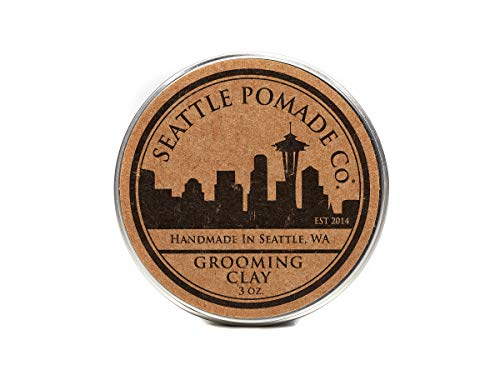 (Grooming Hair Clay - Firm Hold, Low Shine Finish – Product for Thickened, Bold & Modern Hairstyles – Oil & Wax Base – 3 OZ – By Seattle Pomade Co)