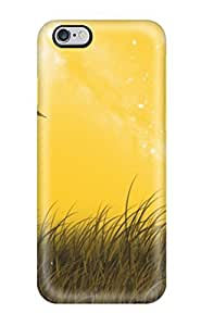 Fashionable Style Case Cover Skin For Iphone 6 Plus- Landscape Lanscape With Birds Digital