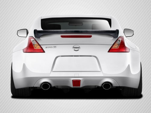 Carbon Creations Replacement for 2009-2019 Nissan 370Z Z34 Coupe N-1 Wing Trunk Lid Spoiler - 1 Piece (Creations Oem Carbon Grille)