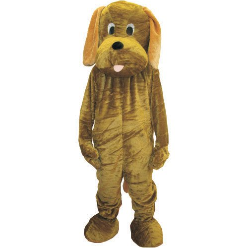 Dress Up America Puppy Dog Mascot, Brown, One Size